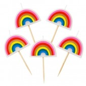 Little Rainbows Candles Pk/5