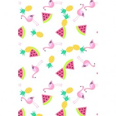 Flamingos & Tropical Fruit Wafer Paper Sheets Pk/3