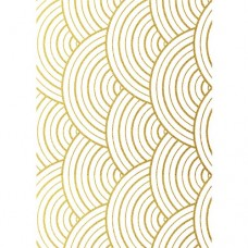 Geometric Curved Gold Wafer Paper Sheets Pk/3