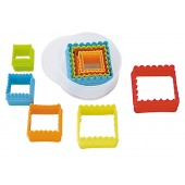 Square Coloured Cookie Cutter Set/5