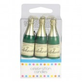 Mini Champagne Bottle Candles Pk/6