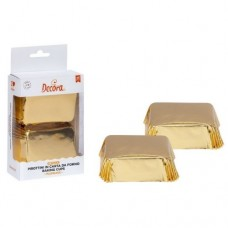 Decora Mini Plumcake Baking Cups - Gold Pk/20