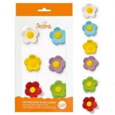 Decora Assorted Large Sugar Flowers Pk/6
