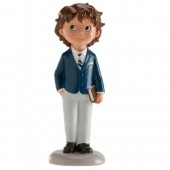 Dekora Communion Boy Topper with Prayer Book