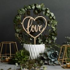 Love Cake Topper - Wood