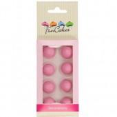 FunCakes Pearl Choco Balls - Matt Pink Set/8