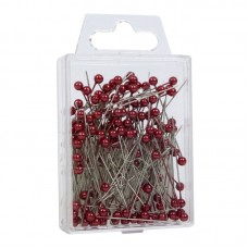 Red Pearl Top Pins Pk/144