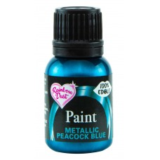 Rainbow Dust Metallic Peacock Blue Paint 25ml