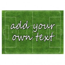 A4 Soccer Pitch Edible Icing Sheet with Text