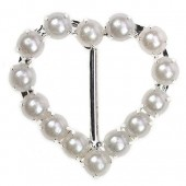 Pearl Heart Buckle 23mm