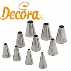 Decora Set of Round Nozzles - Set of 10