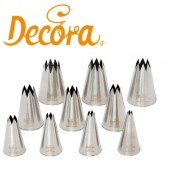 Decora Set of Star Nozzles - Set of 10
