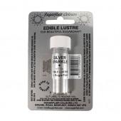 Sugarflair Lustre Dust Silver Sparkle
