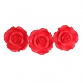 63mm Strawberry Red Sugar Soft Roses Pk/8