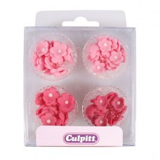 Mini Pink Flowers Pipings Pk/100