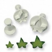 PME Small  Veined Ivy Leaf Plungers Set/3