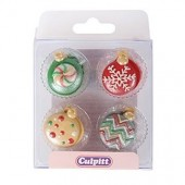 Christmas Bauble Sugar Pipings Pk/12