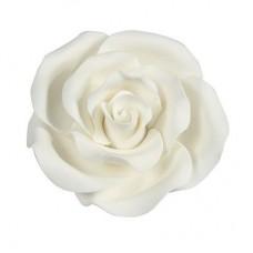 50mm White Sugar Soft Roses Pk/10