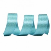 15mm Turquoise Sparkle Ribbon