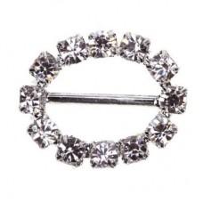 Oval Diamante Buckle 18mm