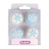 Snowflake Sugar Pipings Pk/12