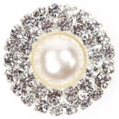 Diamante Pearl Circle Duo 25mm