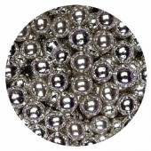 8mm Metallic Silver Pearls 80g