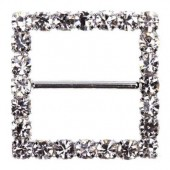 Square Diamante Buckle 22mm