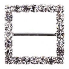 Square Diamante Buckle 22mm