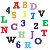 FMM Alphabet & Numbers Upper Case Tappits