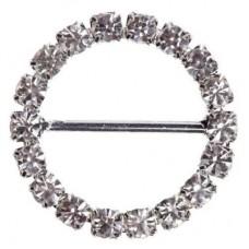 Circle Diamante Buckle 22mm