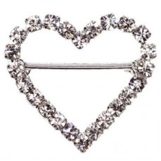 Heart Diamante Buckle 23mm