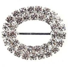Oval Duo Diamante Buckle 28mm