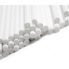 "6"" White Cake Pop Sticks Pk/50"