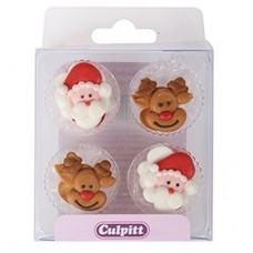 Santa & Reindeer Pipings Pk/12