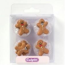 Gingerbread Men Pipings Pk/12