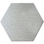 Hexagon Silver Cake Drum 12""