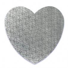 "Heart Silver Cake Drum 10"""