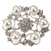 Isabelle Pearl Brooch 50mm