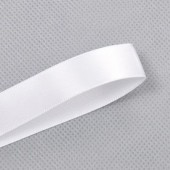 15mm White Double Faced Satin Ribbon 100 yards