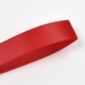 15mm Red Double Faced Satin Ribbon Roll 100 yards