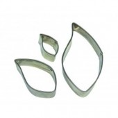 PME Stainless Steel Leaf Cutters Set/3