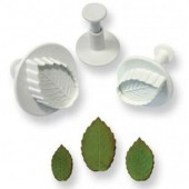 PME Veined Rose Leaf Plunger Set/3