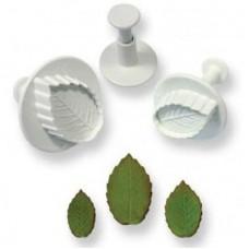 PME Veined Rose Leaf Plunger Set/3