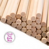"11"" Wooden Dowels Pk/10"