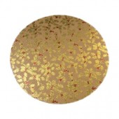 "10"" Gold Holly Double Thick Card"